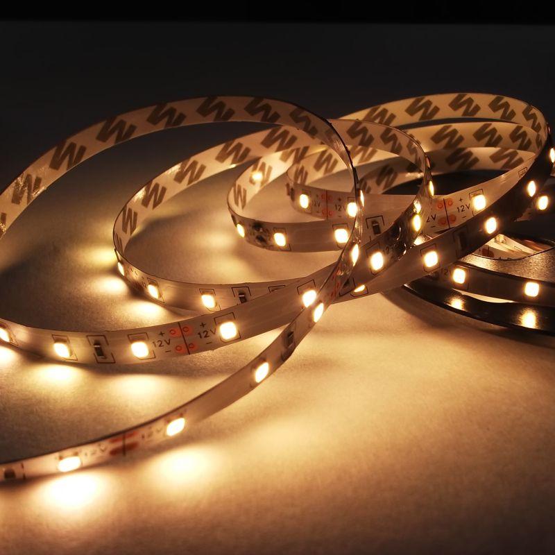 Открытая светодиодная лента 3528 теплого белого свечения