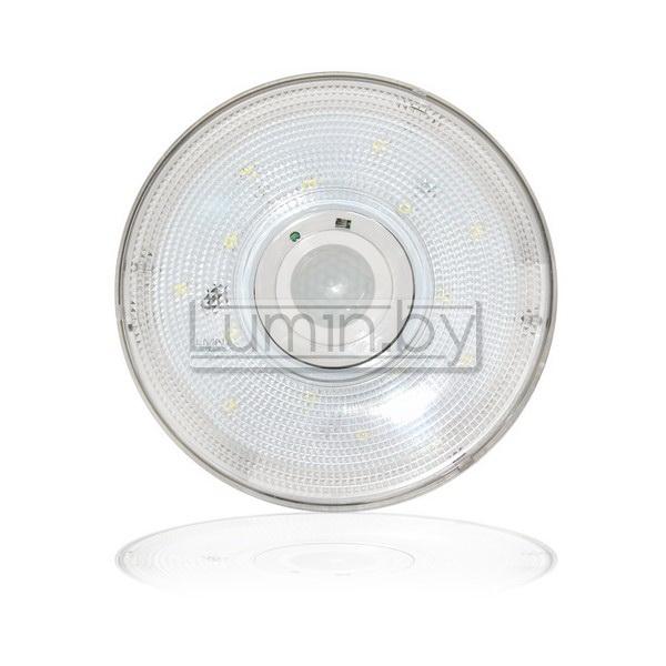 Светодиодный светильник с датчиком движения (220V, 6W, холодный, ЖКХ, IP40)