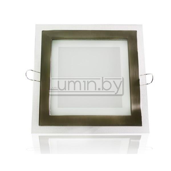 Светодиодная панель 12W 160x160mm, квадрат (стекло)
