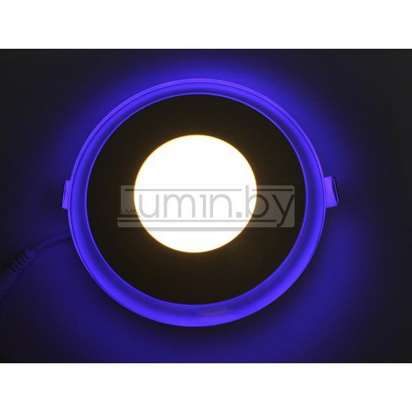 Светодиодная панель Синий Круг 12W 160x160mm
