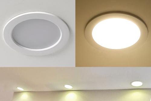 встроенные светильники потолочные светодиодные купить теплый белый круглый
