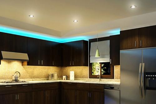 подсветка для кухни в шкафы светодиодные светильники на потолок