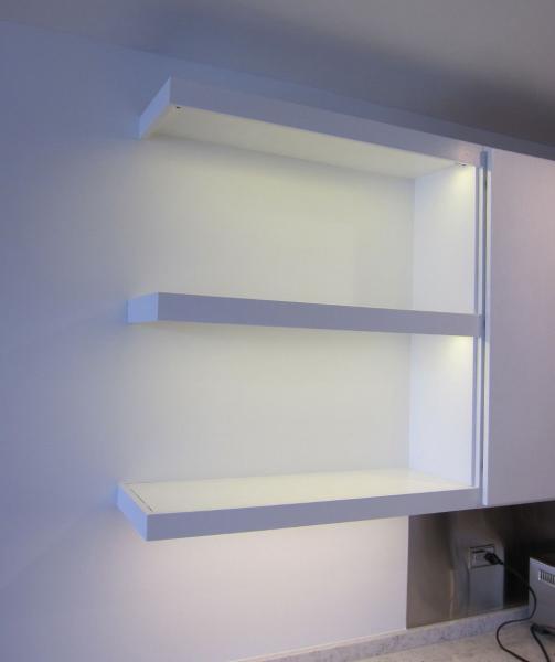 Как подсветить полки на кухне светодиодными светильниками