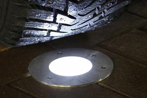 Грунтовый уличный  ландшафтный светодиодный светильник в земле