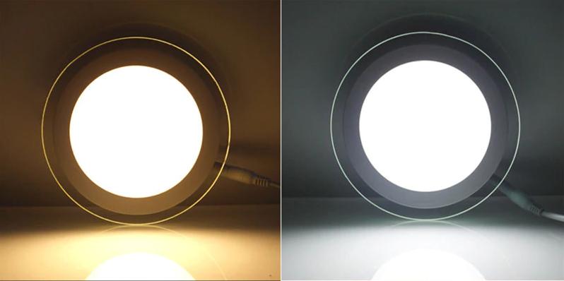 Тёплая LED панель и холодная