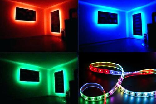 монтаж ргб ленты LED RGB приминение в дизайне