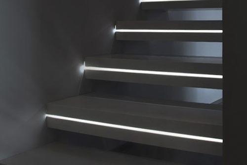 подсветка ступеней стен потолка дизайна светодиодными лентами в минске