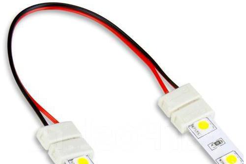 гибкий коннектор для светодиодной ленты LED соединитель 220 как соединить светодиодную ленту без пайки между собой