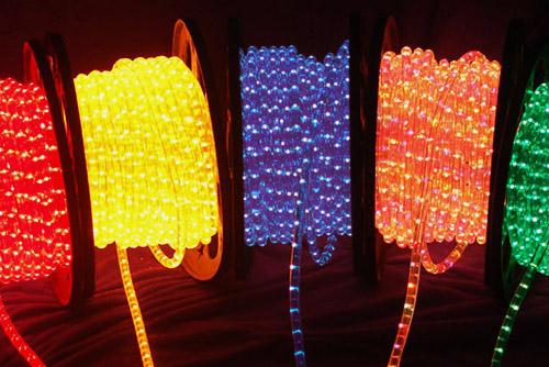 дюралайт кабель со светодиодами для фасада светящийся шнур led фото