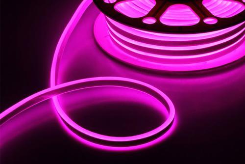 неоновый шнур светодиодный уличный фиолетовый