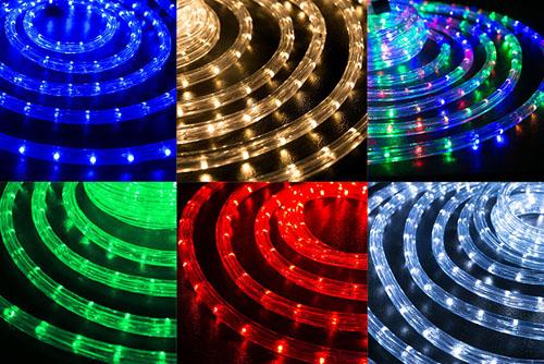 ргб-дюралат многоцветный светодиодный шнур в минске цветной уличный для улицы