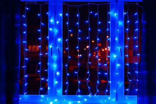 гирлянда диодный дождь купить в минске на окно
