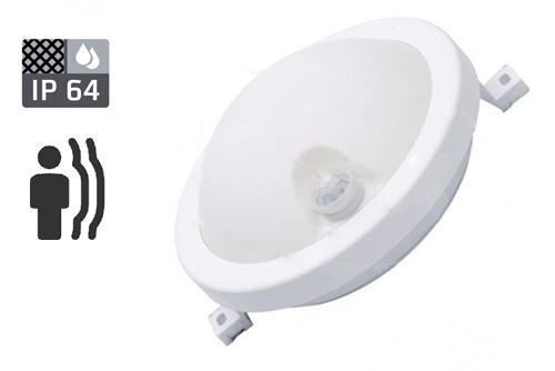 круглый светильник светодиодный 6 ватт ip64 6W датчик движения датчик