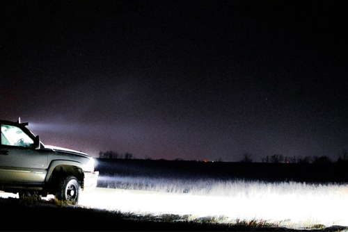 автомобильный прожектор светодиодный на авто 12 Вольт от аккумулятора машины