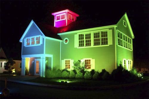 светодиодный прожектор rgb ip65 на дом мост фонтан