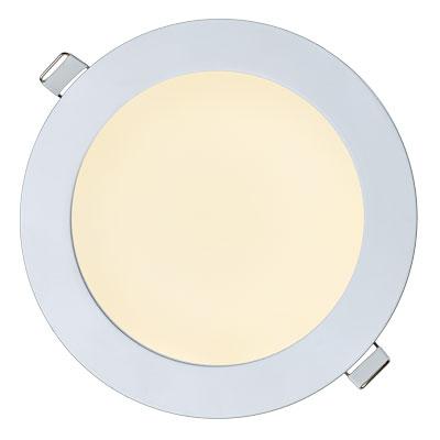 Встраиваемый светильник теплый белый включенный