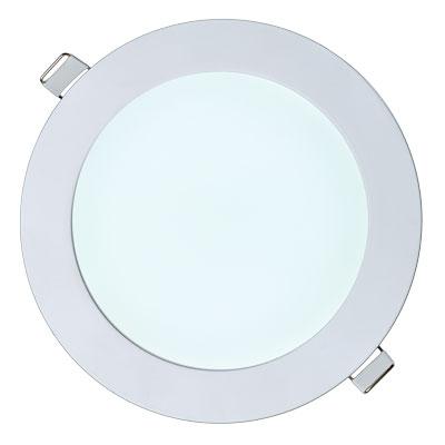 Встраиваемый светильник холодный белый включенный
