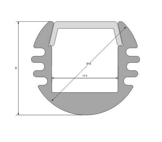 Круглый алюминиевый профиль ALP-04 схема