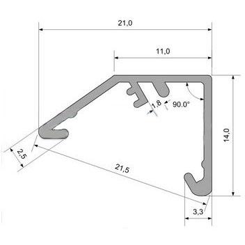 Угловой профиль AN-P31553 без рассеивателя схема