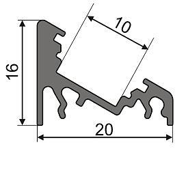 Угловой профиль AN-P333 схема