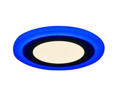 Светодиодная встраиваемая панель 6 + 3Вт c декоративной контурной подсветкой