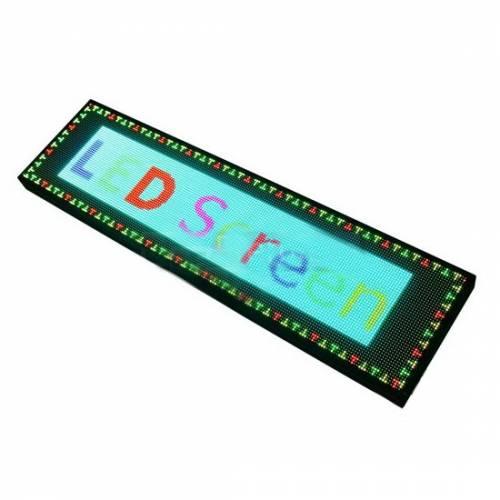 Светодиодный дисплей (бегущая строка) RGB, IP33, 50W (120х33х5 см) Артикул: 22104