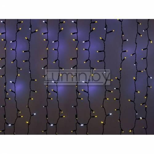 Светодиодная гирлянда Мерцающий дождь 2х1,5м, 360 LED, 220V (на белом или черном проводе) Артикул: 75315