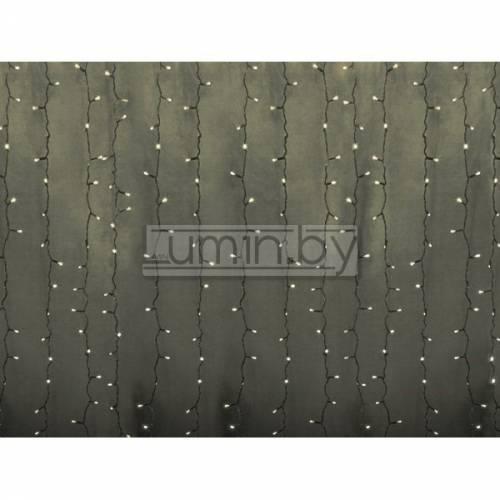 Светодиодная гирлянда Мерцающий дождь 2х1,5м, 360 LED, 220V (на прозрачном проводе) Артикул: 75337