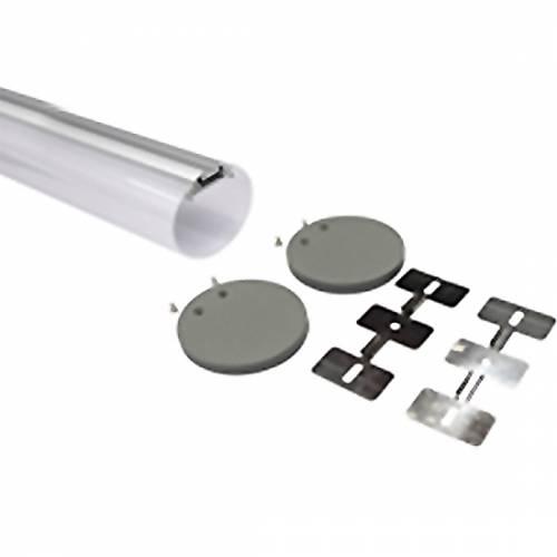 Круглый подвесной алюминиевый профиль S R60 anod