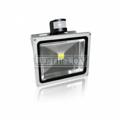 Светодиодный прожектор PIR-50W-CW 50W, 220V, IP65
