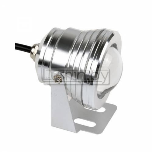 Светодиодный энергосберегающий прожектор с линзой 10W, IP68, холодный белый