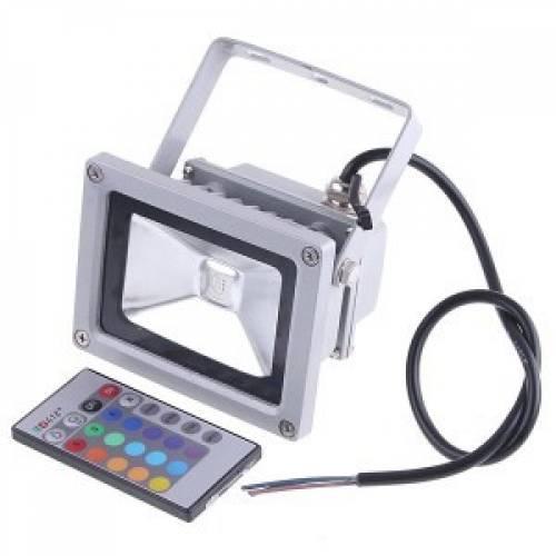 Светодиодный прожектор 10W, IP65, RGB