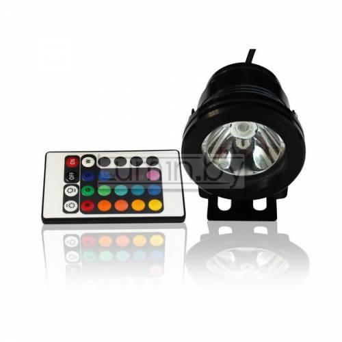 Светодиодный прожектор с линзой 10W, IP68, RGB, 220V