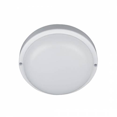 Светильник светодиодный пылевлагозащищенный с акустическим датчиком и датчиком освещенности круглый 8W, 4000К,  IP54 пластик