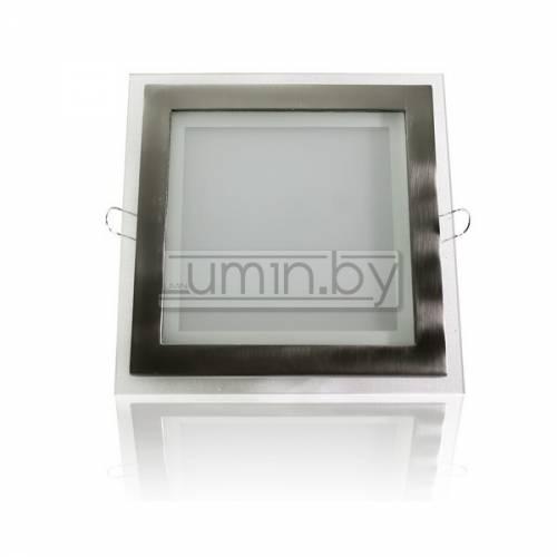 Светодиодная панель 15W: 200x200mm, квадрат (стекло) Артикул: 11735