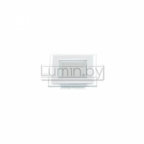 Светодиодная панель 6W: 120x120mm, квадрат (стекло) Артикул: 02800