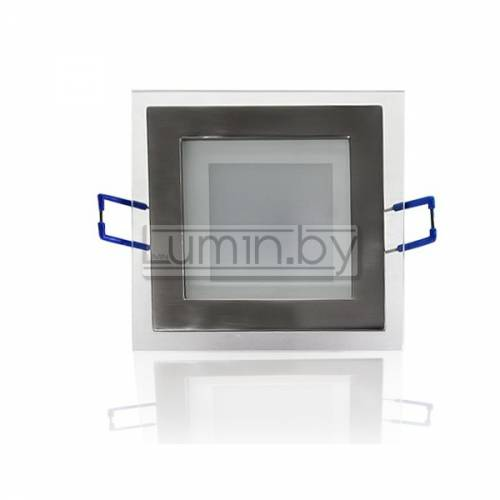 Светодиодная панель 6W: 120x120mm, квадрат (стекло) Артикул: 11701