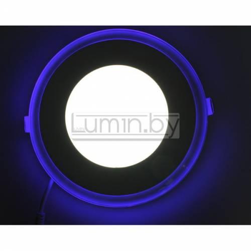 Светодиодная панель Синий Круг 18W: 180x180mm, (стекло) Артикул: 91105