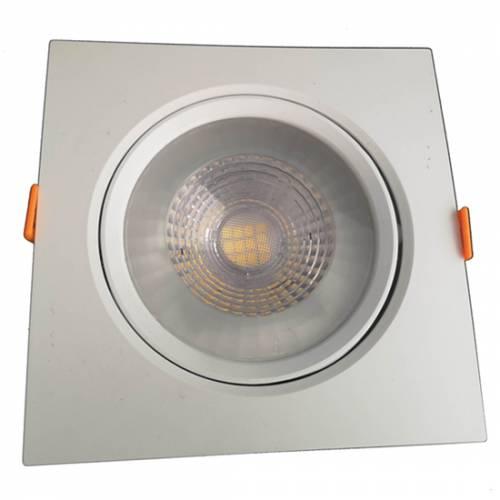 Cветильник светодиодный встраиваемый поворотный направленного света, квадрат, 12W, 4000K, IP40