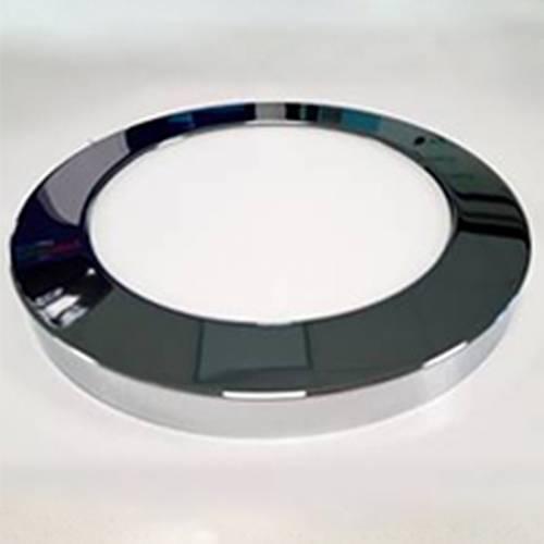 Декоративный накладной корпус светильника (d165) металлический, хром глянцевый, на магните