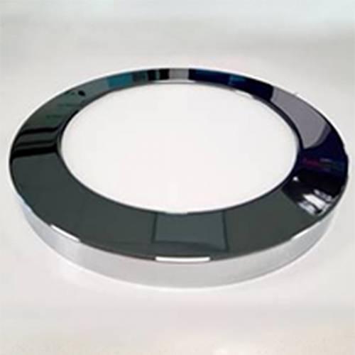 Декоративный накладной корпус светильника (d217) металлический, хром глянцевый, на магните