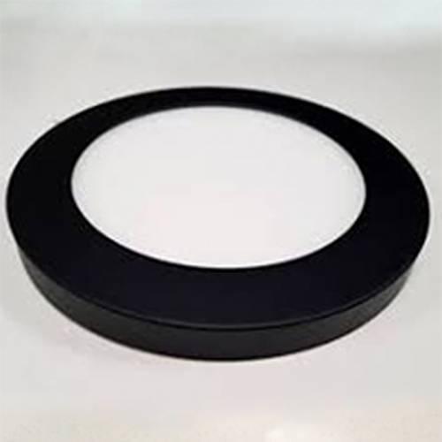 Декоративный накладной корпус светильника (d217) металлический,черный матовый, на магните
