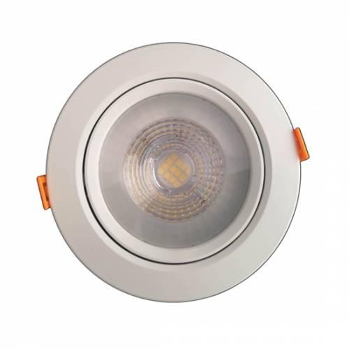 Светильник светодиодный встраиваемый поворотный направленного света, круг, 5W, 4000K, IP40