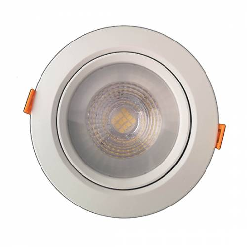 Светильник светодиодный встраиваемый поворотный направленного света, круг, 7W, 4000K, IP40