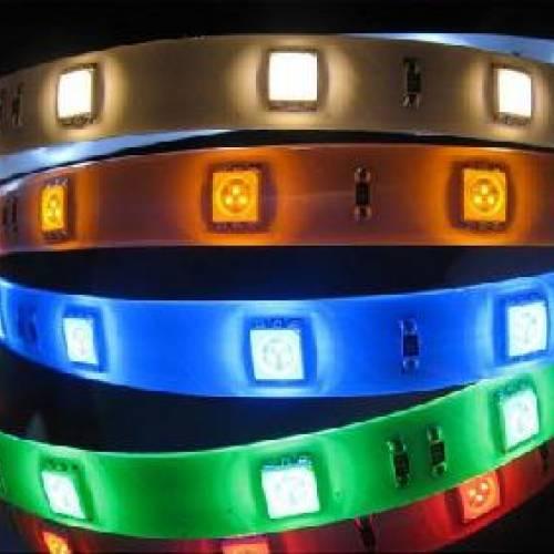 Светодиодная RGB-лента SMD 5050, IP33 (30 диодов на метр)