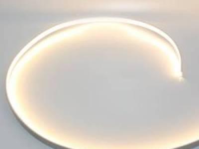 Накладной гибкий алюминиевый профиль с экраном (98023)