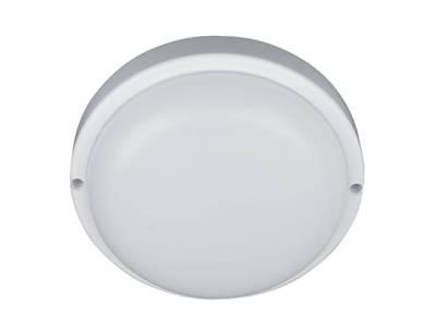 Светильник светодиодный пылевлагозащищенный круглый 12W, 4000 К, IP54 пластик