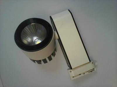 Светодиодный трековый светильник LED 20W (однофазный)