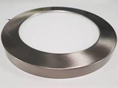 Декоративный накладной корпус светильника (d165) металлический, сатин никель, на магните