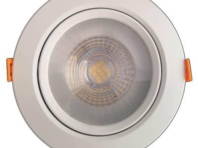 Светильник светодиодный встраиваемый поворотный направленного света, круг, 12W, 4000K, IP40